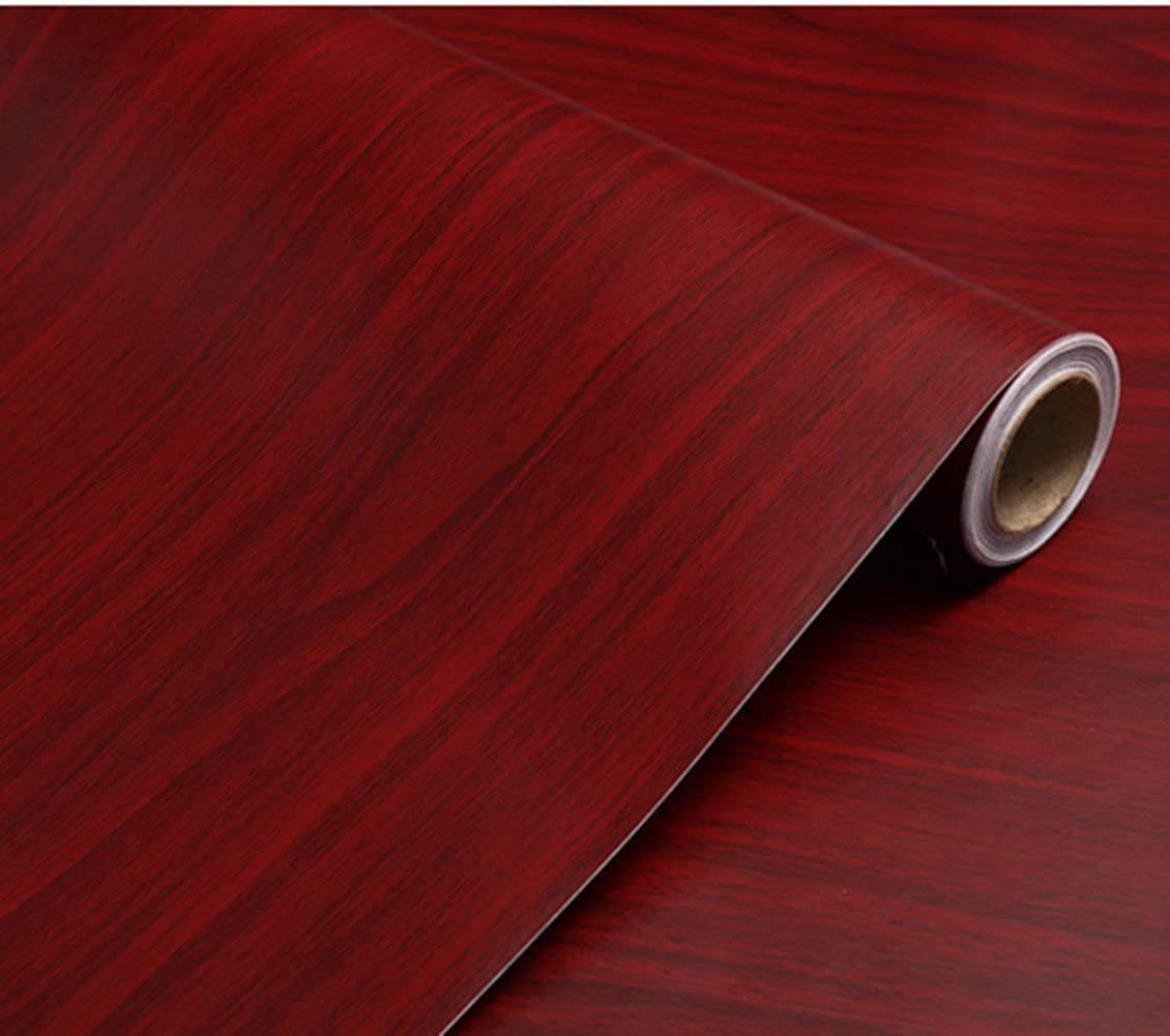 despegar y pegar papel de vinilo adhesivo en la parte posterior de pl/ástico impermeable TOTIO Papel de contacto con purpurina roja vinilo autoadhesivo para muebles para puertas de armarios de cocina