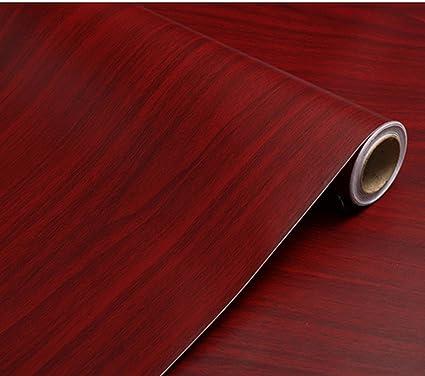 Amazon Bestery Adhesive Dark Red Wood Grain Contact Paper