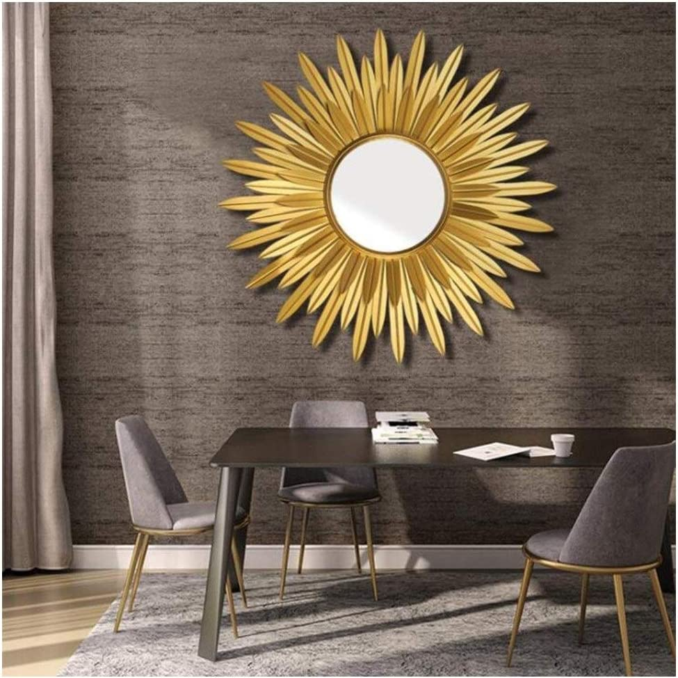 Amazon Com Sunburst Round Wall Mirrors For Living Room Large Round Mirror Gold Ornate Mirror Silver Decorative Wall Mountable Shabby Chic Home Decor Wall Mirrors For Hallway Home Kitchen