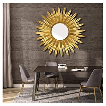 Amazon.com: Sunburst Round Wall Mirrors for Living Room ...