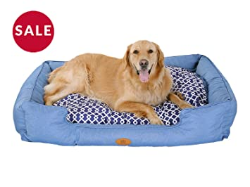 Admirable New Pls Birdsong Trellis Bolster Dog Bed Pet Bed Cat Bed Blue Removable Cover Completely Washable Theyellowbook Wood Chair Design Ideas Theyellowbookinfo
