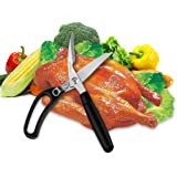 Kitchen Shears, Poultry Heavy Duty Multi Purpose Scissors for Herbs, Chicken, Meat & Vegetables, Spring Loaded Good Grips