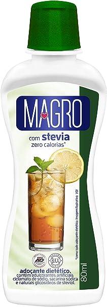 Adoçante Dietetico Magro C/ Stevia Liq 80Ml