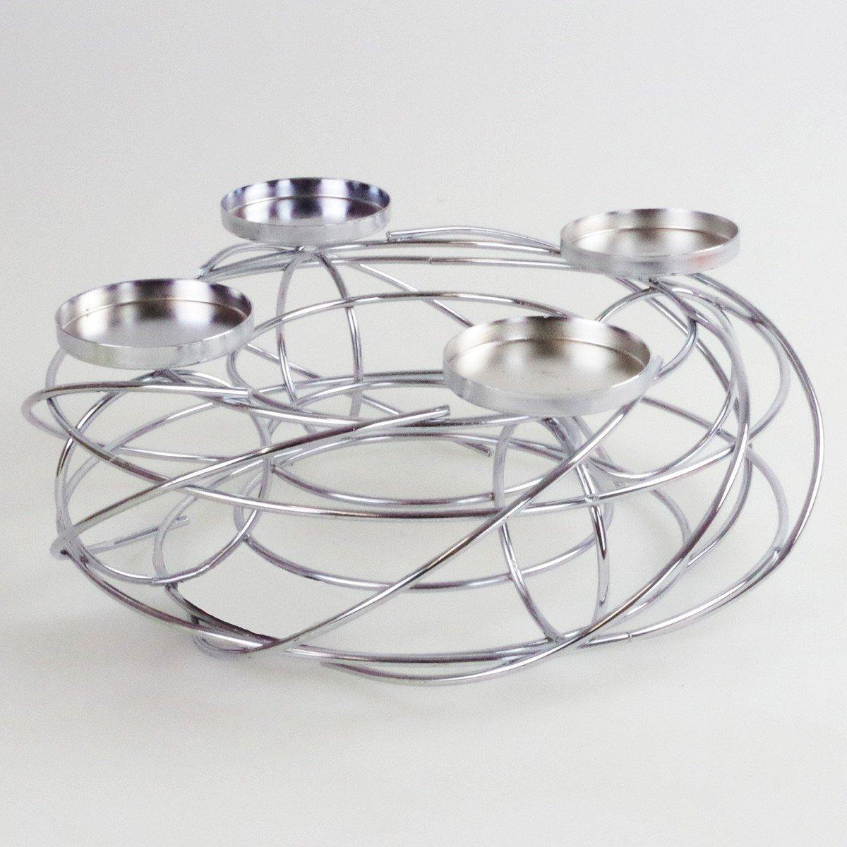adventskranz aus metall silber europ ische. Black Bedroom Furniture Sets. Home Design Ideas