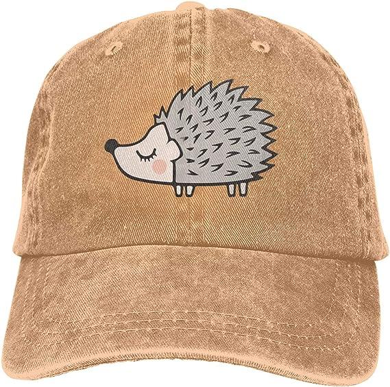 XZFQW Cute Hedgehog Trend Printing Cowboy Hat Fashion Baseball Cap for Men and Women Black