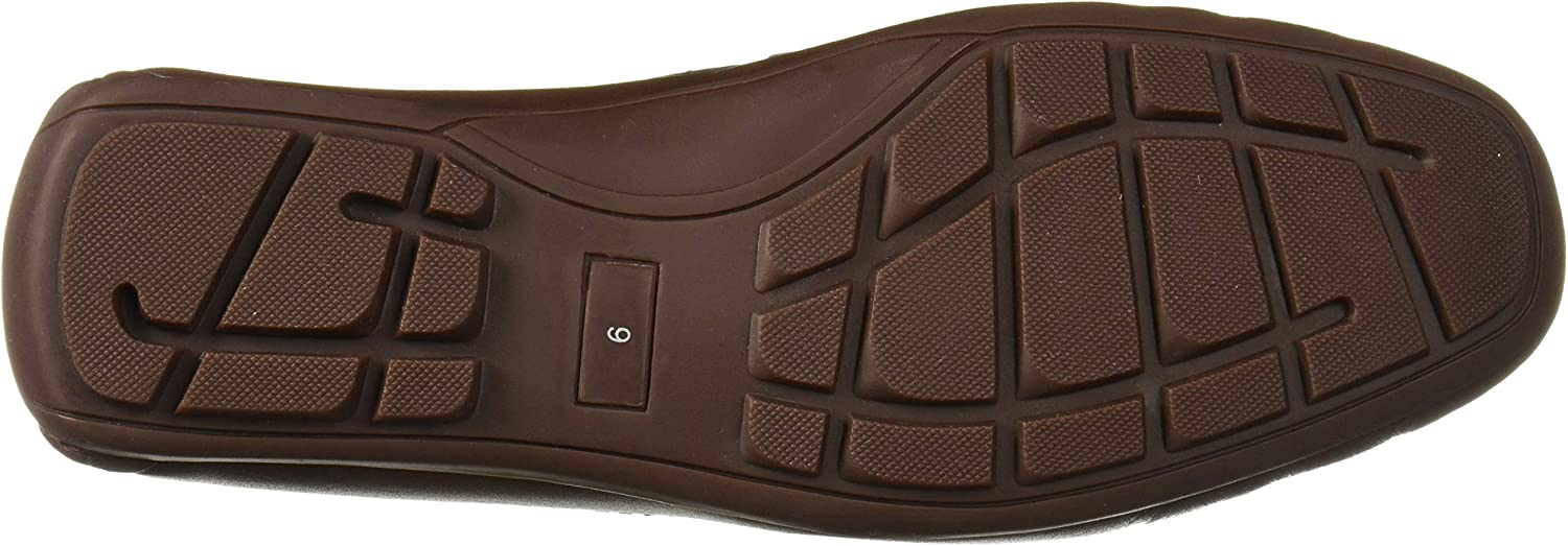 Driver Club USA Men's Leather Made in Brazil Side Metal Detail Driving Loafer Brown Nappa