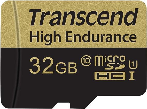 TALLA 32 GB. Transcend TS32GUSDHC10V Memoria Flash 32 GB MicroSDHC Clase 10 MLC - Tarjeta de Memoria (32 GB, MicroSDHC, Clase 10, MLC, 21 MB/s, Negro, Plata)