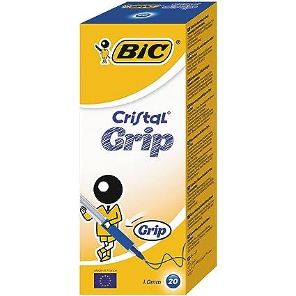 Amazon Com Bic Cristal Grip Ball Pen Blue Rollerball Pens
