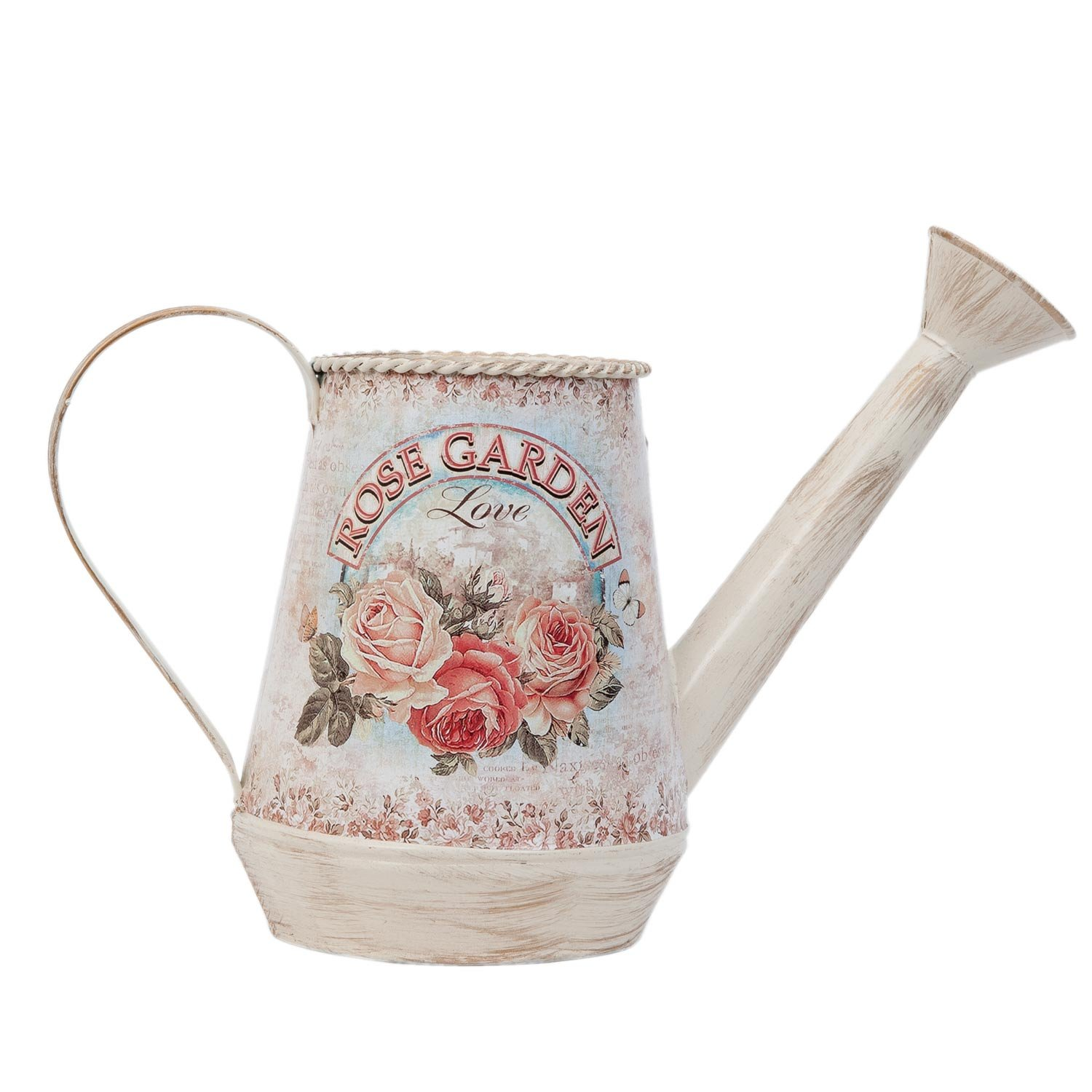 Clayre & Eef 63326Decorative Watering Can Watering Can Pink Garden Love Approx. 29x 9x 16cm
