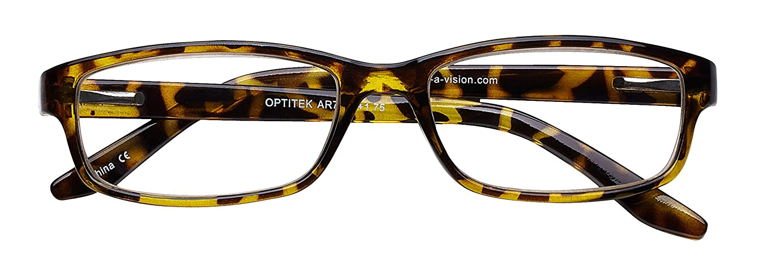 3801ff39c4b Amazon.com  Select-A-Vision Optitek Anti-Reflective Plastic Frame Reading  Glasses