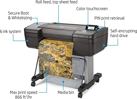 HP Designjet Z6 Impresora de Gran Formato Color 2400 x 1200 dpi Inyección de Tinta A1 (