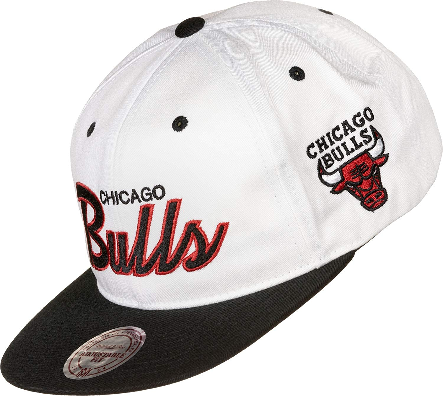 Mitchell & Ness Team Script Throwback Chicago Bulls Gorra: Amazon ...
