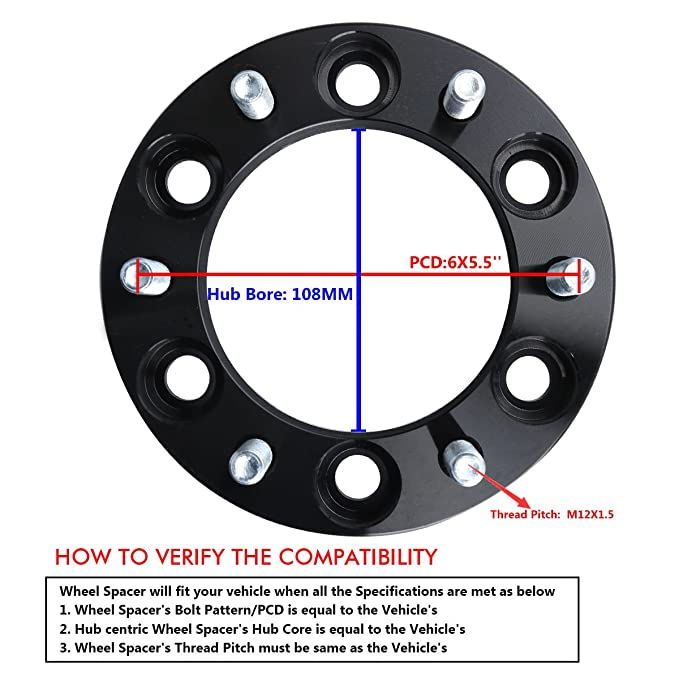 Amazon 6x55 Wheel Spacers For Toyota Ksp Forged 125mm 6x5