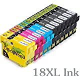 OfficeWorld Replacement for Epson 18XL Ink Cartridges (T1811 T1812 T1813 T1814) High Capacity Compatible for Epson Expression Home XP-202 XP-305 XP-415 XP-412 XP-215 XP-312 XP-212 XP-102 XP-405 XP-205 XP-302 XP-402 XP-315 XP-405WH XP-30