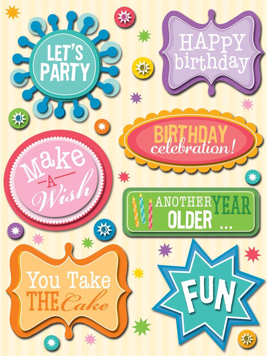 Birthday Words Grand Adhesions K245006