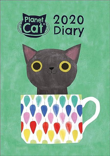 Planet Cat 2020 - Agenda (tamaño A6), diseño de gato: Amazon.es: Oficina y papelería