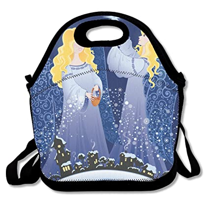 9d1a383f47c1 Amazon.com - SARA NELL Neoprene Lunch Bag Christmas Angels in The ...