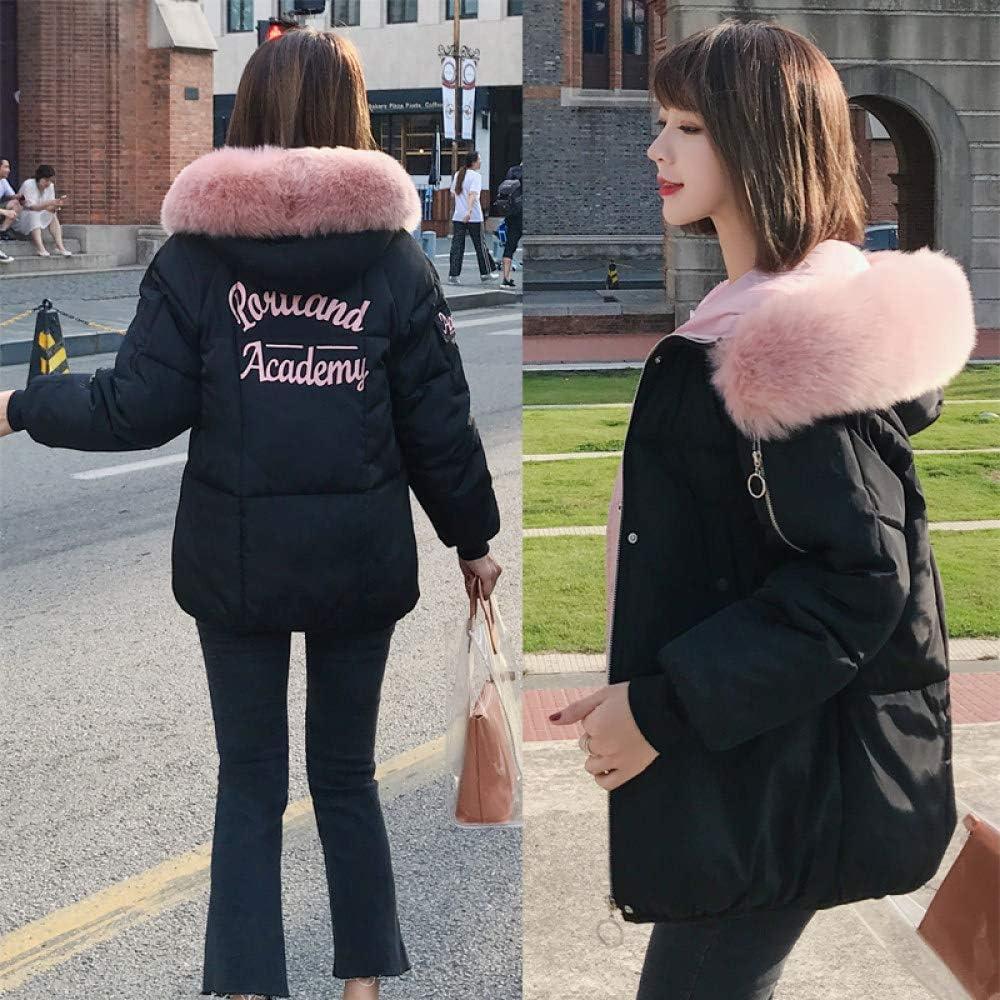 WJINNSH Manteau,Veste d'hiver Femme Nouvelle Mode Mince Femme Manteau d'hiver épaissir Parka Coton vêtements Noir