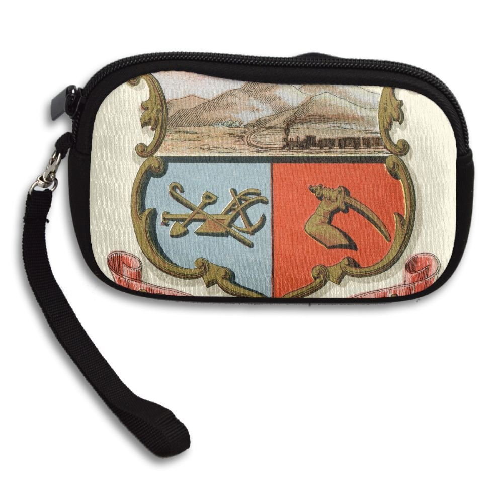 Wyoming Territory Coat Of Arms Deluxe Printing Small Purse Portable Receiving Bag