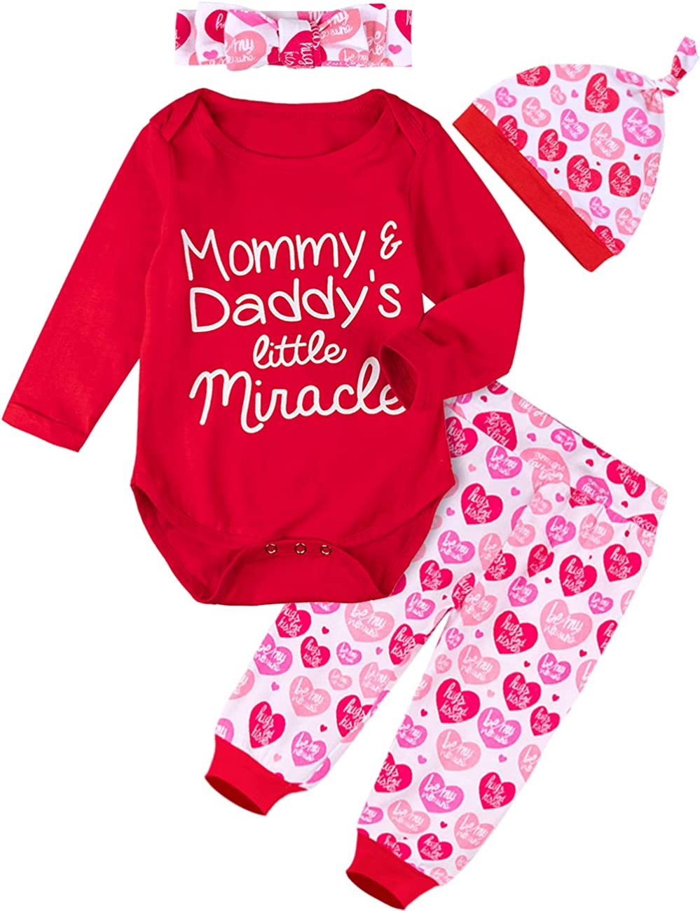 Tianhaik Newborn Infant Baby Boy Valentines Day Clothing Romper+Pants Gentleman Outfits
