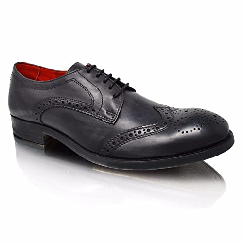 14f8e5587 Mens Leather Smart Wedding Party Dress Lace Up Brogues Oxford Derby Formal  Shoes Size 6-