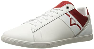 Diesel Men's Happy Hours S-Judzy Fashion Sneaker, White/Chili Pepper, 7