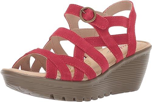 Tratamiento Preferencial usuario Redundante  Skechers Sandalias de cuña con hebilla y tres correas paralelas para mujer:  Amazon.es: Zapatos y complementos