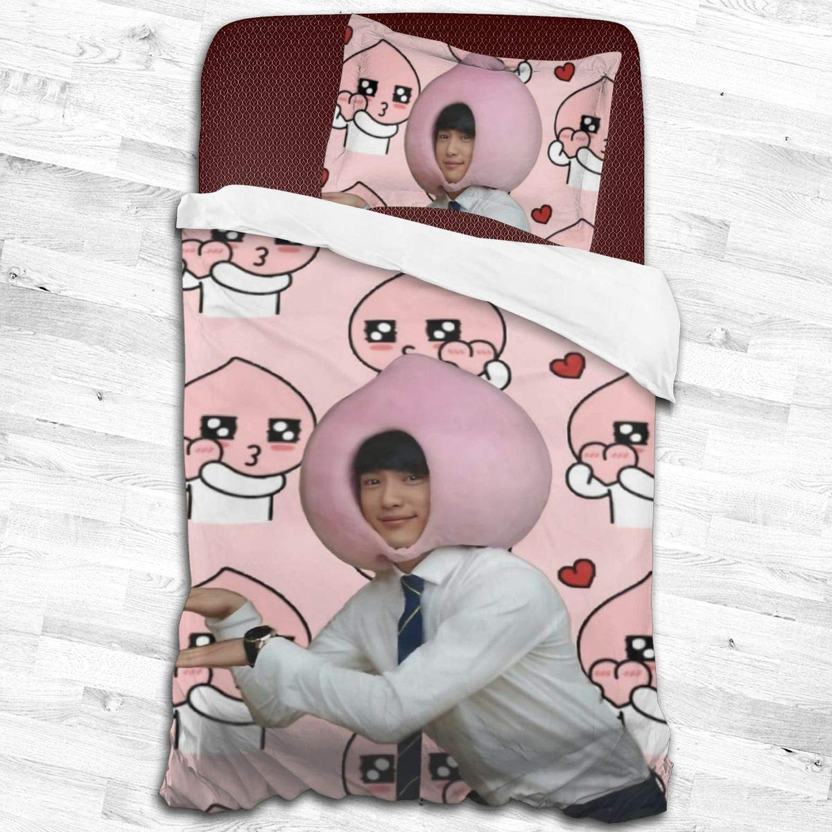 "LiaoMoey Got7 Jinyoung Apeach Luxury Best Softest 2-Piece Bedding Set Smooth Soft Set 55"""" x83"