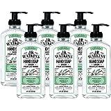 J.R. Watkins 洗手皂,凝胶,11 液体盎司,香草薄荷(6 件装)