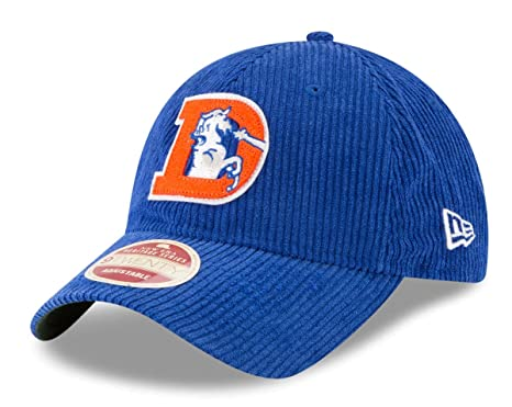 purchase cheap 30d09 901c5 Image Unavailable. Image not available for. Color  New Era Denver Broncos  NFL Historic 9Twenty Cord Classic Adjustable Hat