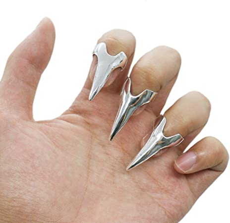 IDS - Pack de 10 Anillos Largos de Punk Rock Claw Talon TipRetro ...