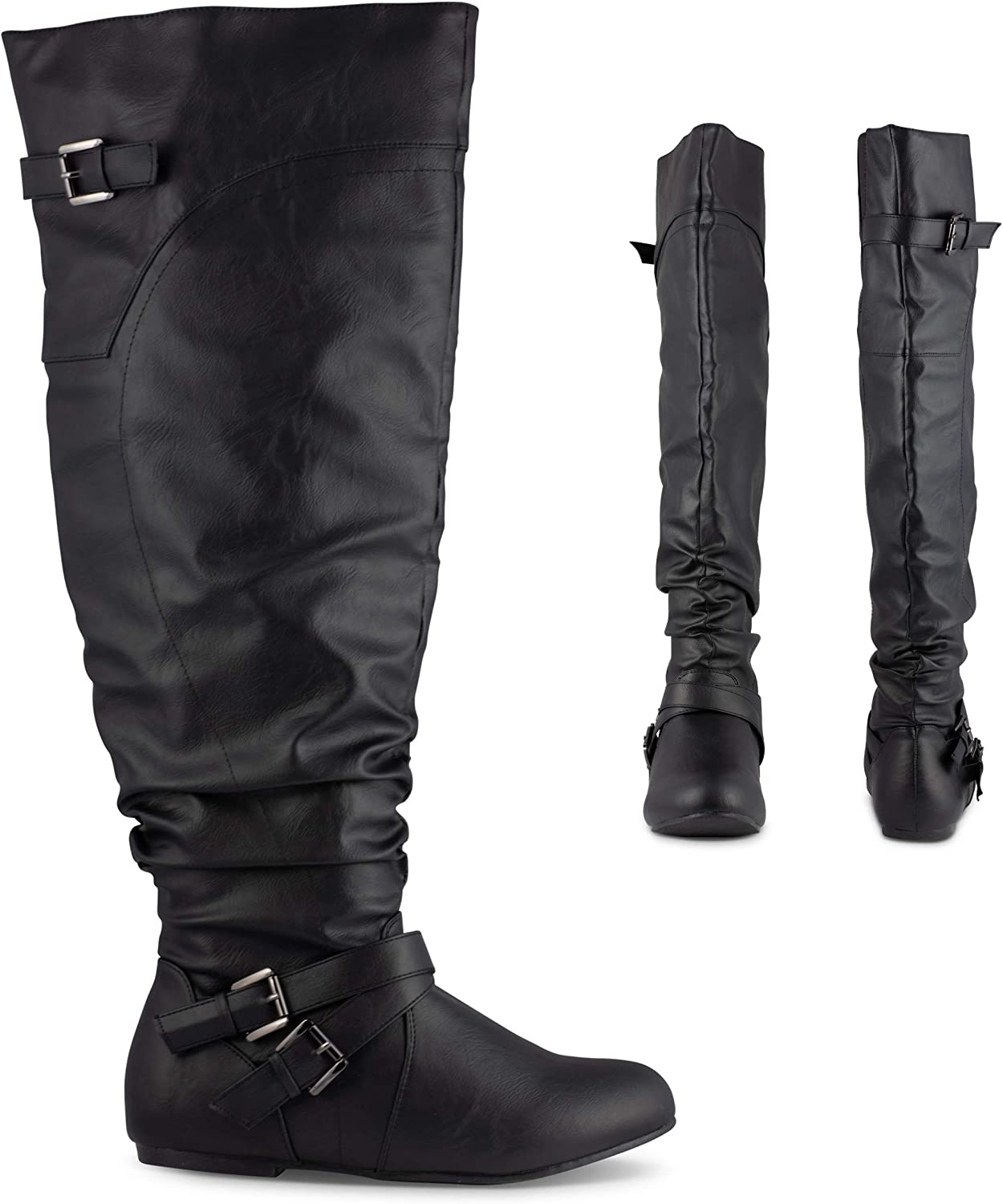 The Knee Faux Leather Fashion Boot