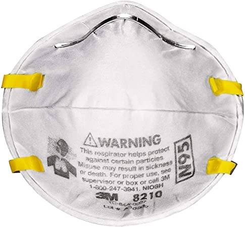 3m 8210 n95 particulate respirator mask box of 20