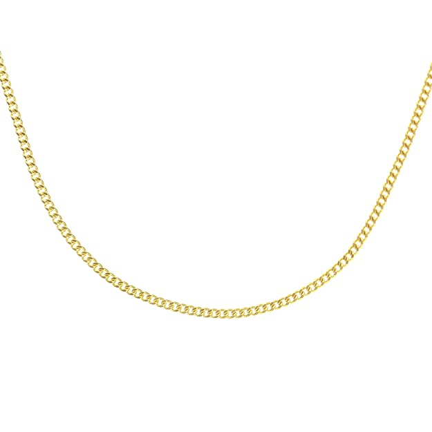 Citerna Women's 9 ct Rose Gold Spiga Chain Necklace wGOQT7neA