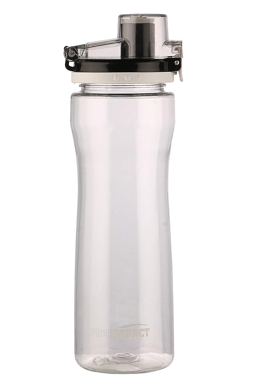 Pro Impact ゼネラルウォーターボトル ボタン開口部 - 非毒性 BPAフリー 飲みやすい プッシュして開く蓋 - フィットネス スポーツ ジム ランニング ワークアウトに最適 B07GJWX3QH ホワイト
