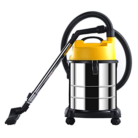 MODERN LIFE 20 L Aspiradora Agua y Polvo 2 en 1 Acero Inoxidable, Negro y