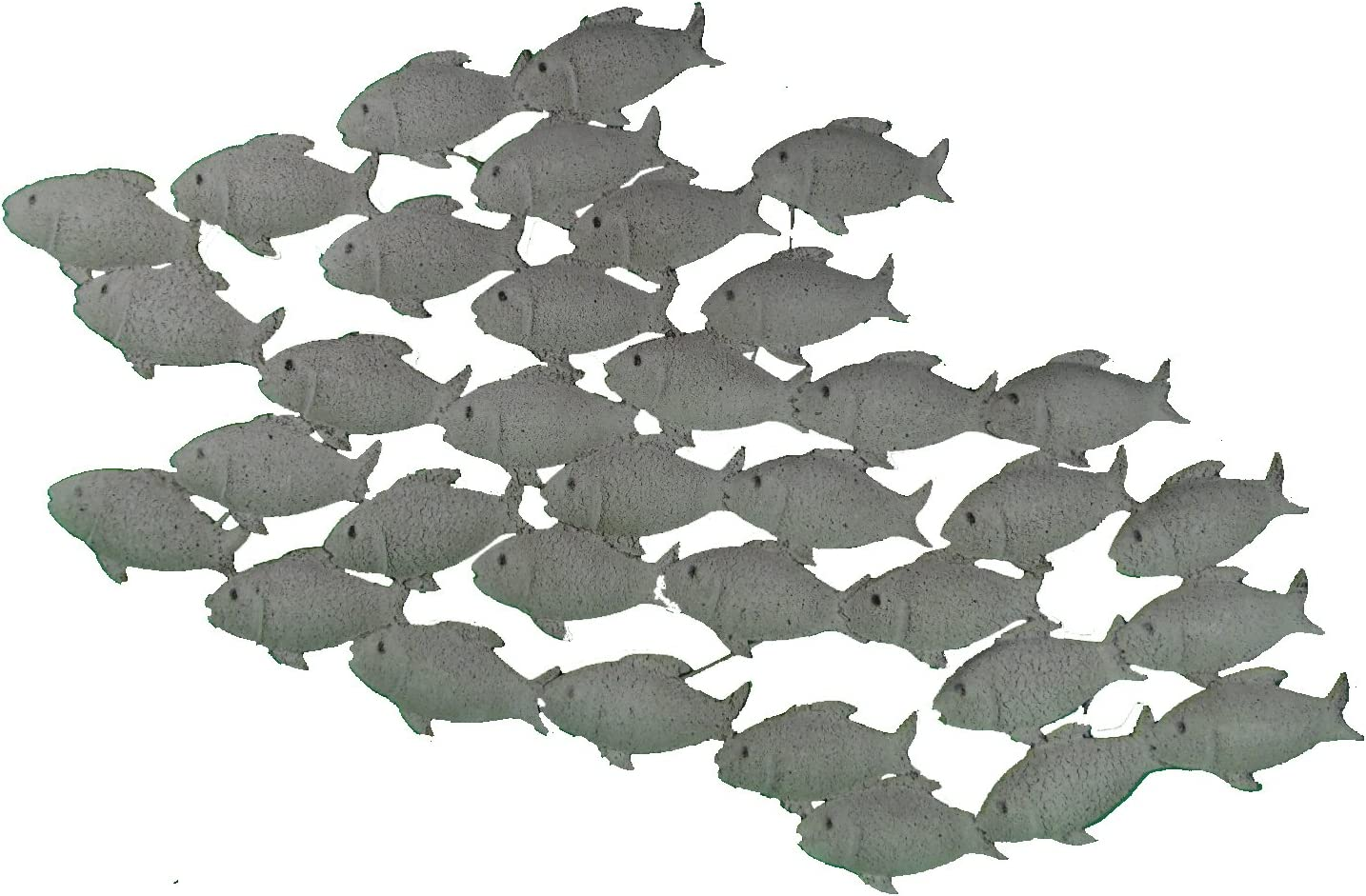 SD - Adorno de pared (hierro), diseño de peces, color gris mate