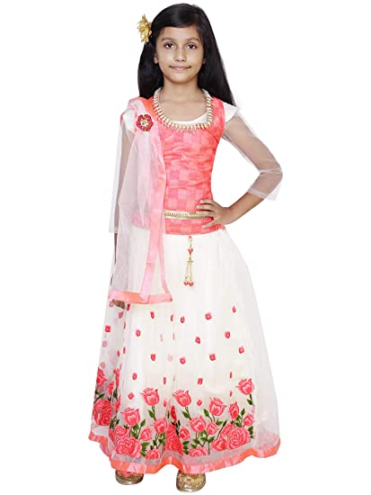 466036568 Glossia Kids Party Wear Lehenga Choli Set for Girls: Amazon.in: Clothing &  Accessories