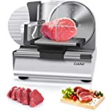 CukAid Electric Meat Slicer Machine, Deli Cheese Bread Food Slicer, Dishwasher Safe, Removable Stainless Steel Blade…
