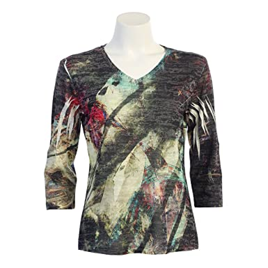 Jess Jane Affection Burnout Sublimation Top At Amazon Women S
