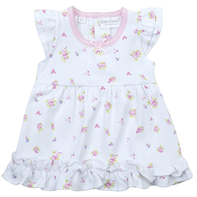 9fc3b18a Babytown Tiny Baby Girls Bodysuit Dress 100% Cotton Premature Ditsy Size Up  to 5LBS