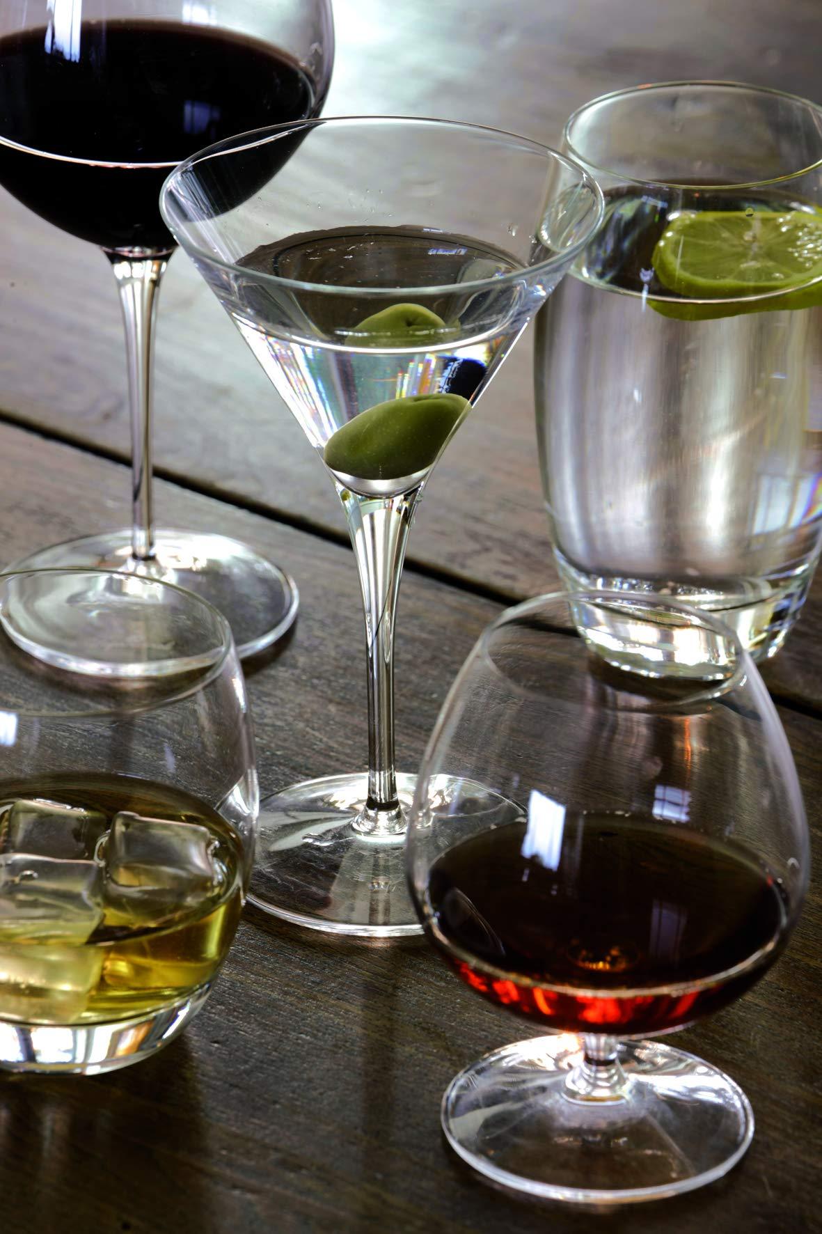 Luigi Bormioli Vinoteque 15.75 oz Cognac/Brandy Glasses, Set of 6, Clear
