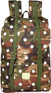 Herschel Retreat Backpack, Woodland Camo White Dot, One Size, Retreat Mid-volume