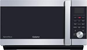 Galanz GSWWA12S1SA10 3-in-1 Microwave Oven with Air Fry Convection, Combi-Speed, 1.2 Cu.Ft /1000W, LCD Display, Touch Cook, Handle Design, Stainless Steel, Cu. Ft