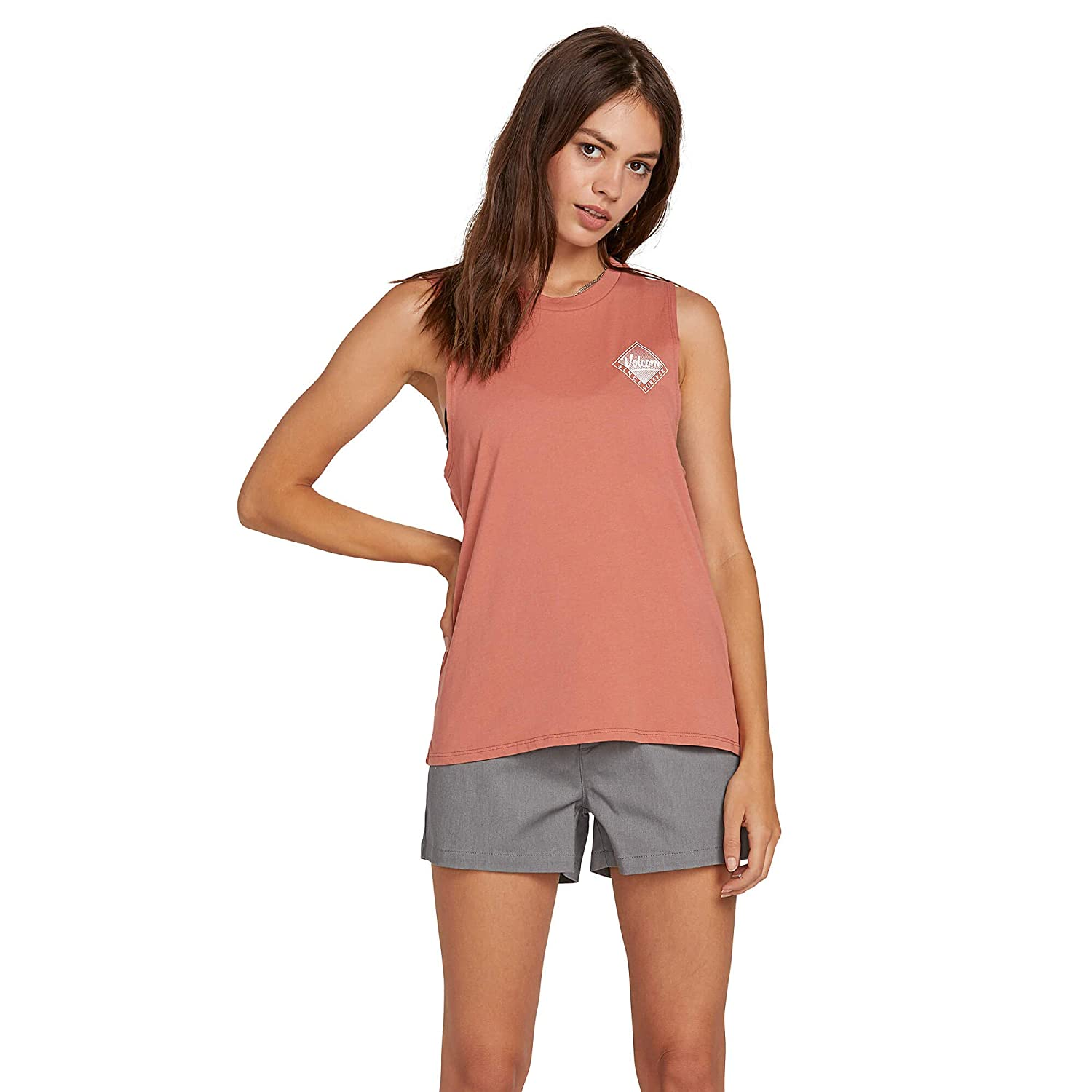 Volcom Womens Throw Shade Muscle Tank Top Tee