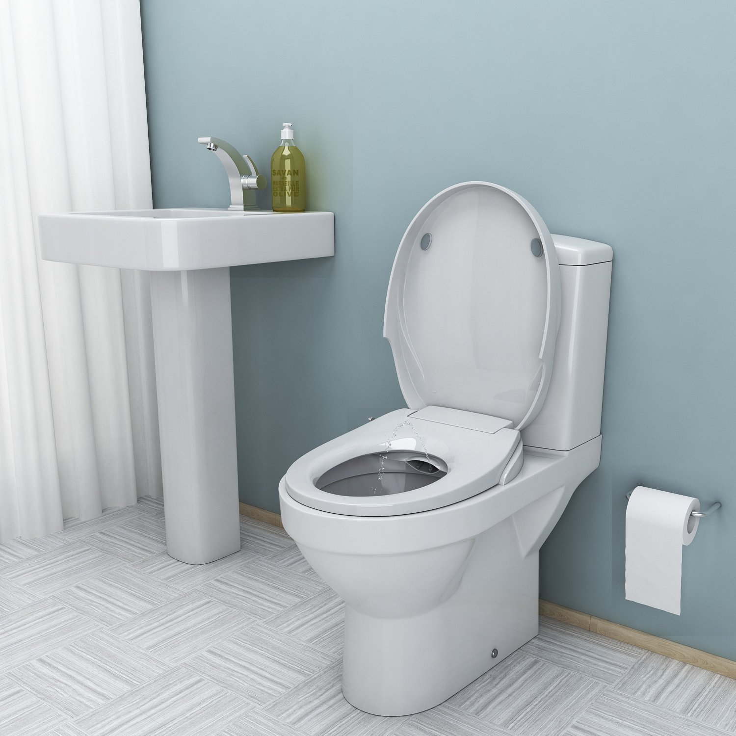 Homdox Bidet Smart Toilet Seat in Round Self Cleaning - Dual Nozzle ...