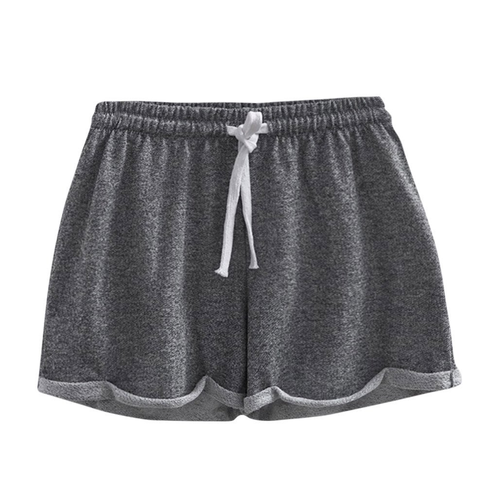 Beach Shorts Short,Women Solid Shorts Causal Sexy Home Short Shorts Pants Women's Fitness Pants,Boys' Shorts,Dark Gray,L
