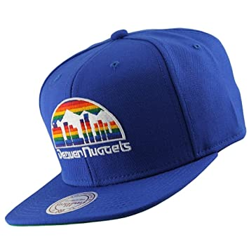 4f3fcd7af6a Mitchell   Ness Denver Nuggets Wool Solid Snapback NBA Cap Blue   Amazon.co.uk  Sports   Outdoors