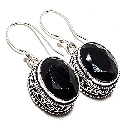 5551d90272e Buy Beautiful Black Onyx Gemstone Earring Vintage Style Handmade 925  Sterling Silver Plated Jewelry -Dangle and Drop Earring -(SF-2377) Online  at Low Prices ...
