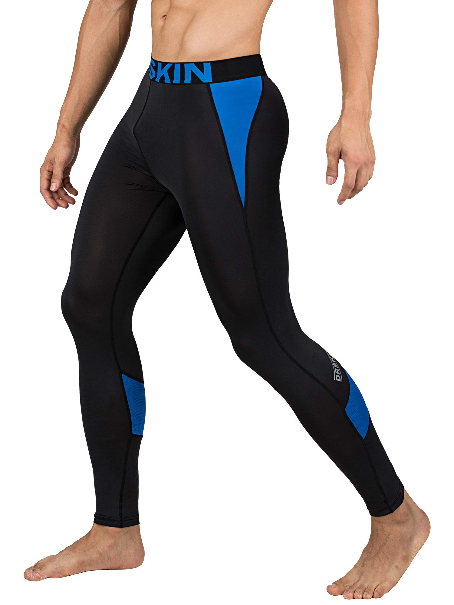 DRSKIN 1~3 Pack Men's Compression Dry Cool Sports Tights Pants Baselayer Running Leggings Yoga (Packs of 1, 2, or 3 Deals) (Came B-BU03, S)